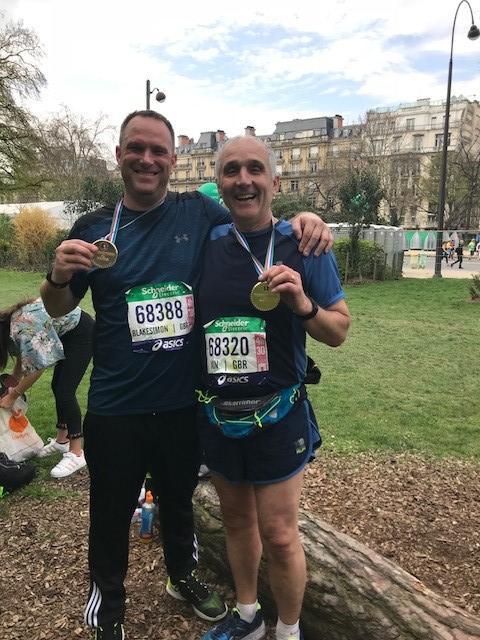 Ian and Simon - Paris Marathon 2018