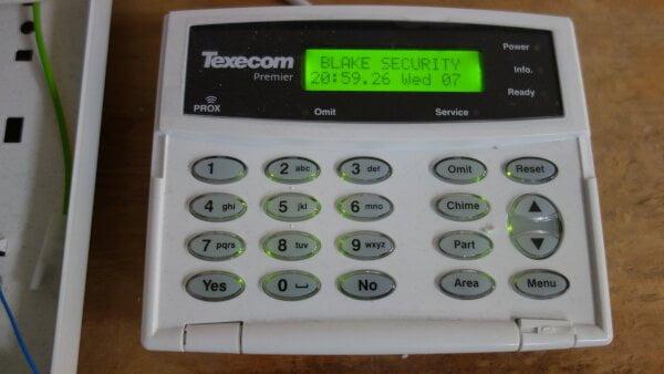 Texecom security alarm panel Essex