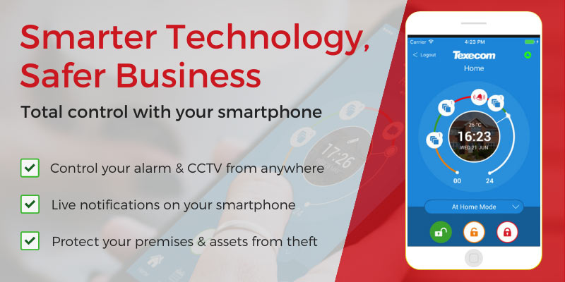 Commercial alarm systems on the go